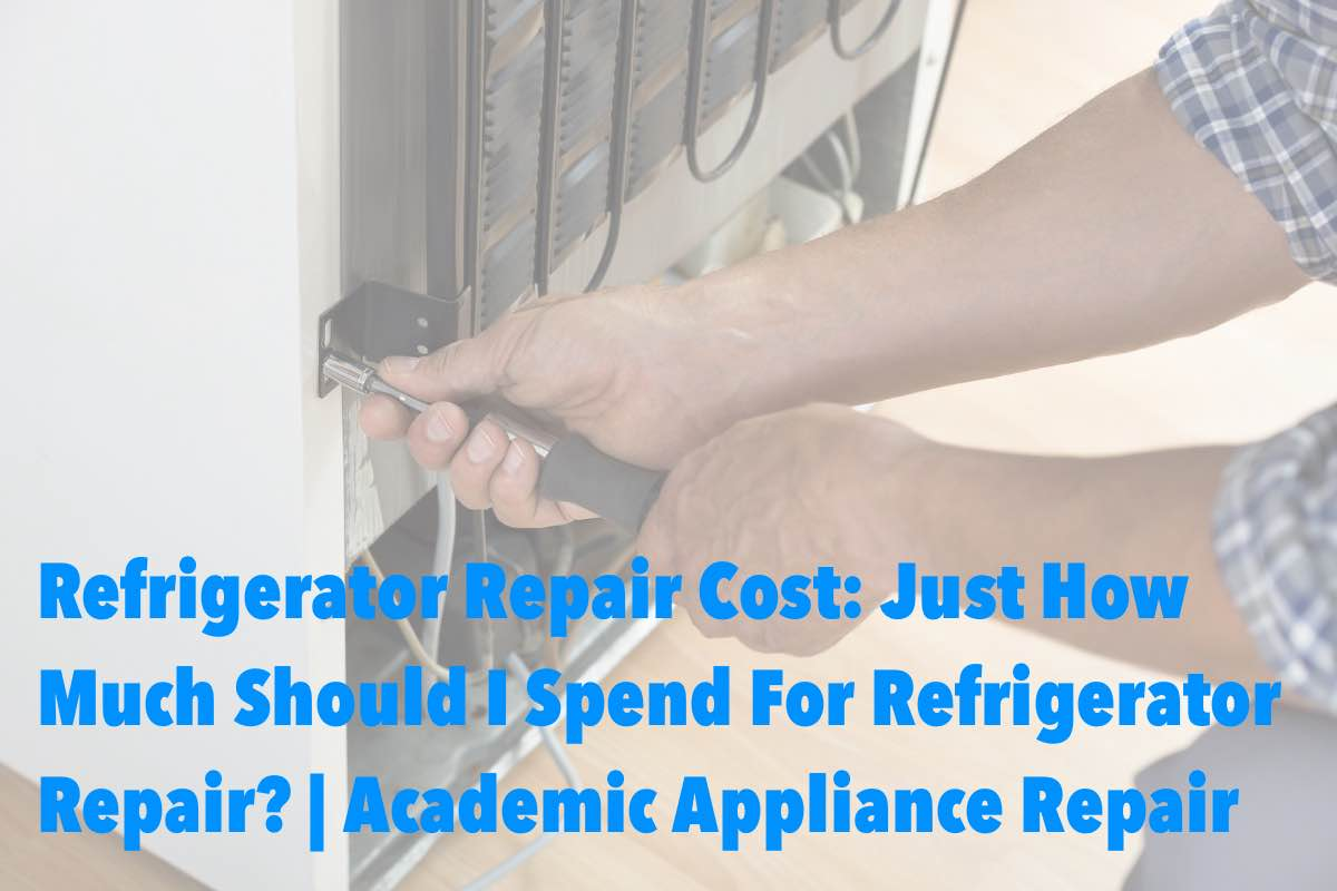 Refrigerator Repair Cost: Just How Much Should I Spend For Refrigerator Repair? | Academic Appliance Repair